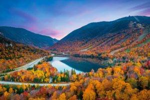 new england landscape in the fall
